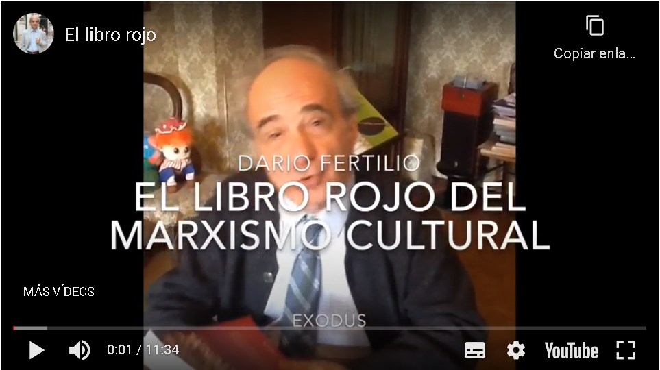 Dario Fertilio presenta «El libro rojo del Marxismo Cultural» (Exodus, 2020)