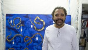 Humberto Castro en su estudio (2019)